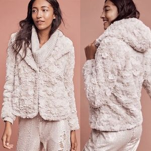 Anthropologie Tiny Editions Glacie Faux-Fur Jacket